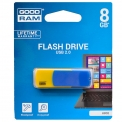 Флеш-драйв  8GB GOODRAM Colour Blue/Yellow Retail