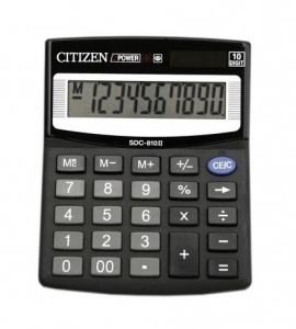 , Калькулятор CITIZEN 10р 125х100х34мм SDC-810BN