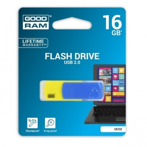 , флеш-драйв 16GB GOODRAM Colour Blue/Yellow Retail