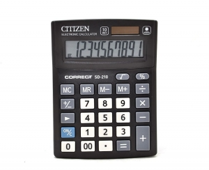 Калькулятор Citizen Correct 10р 135х100х25мм SD-210