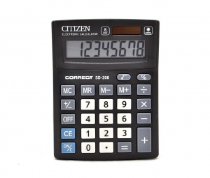 Калькулятор Citizen Correct  8р 135х100х25мм SD-208