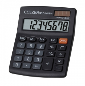 Калькулятор CITIZEN  8р 124х102х25мм SDC-805BN