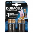 Батарейка R-06 1х4шт DURACELL Turbo 20шт/уп