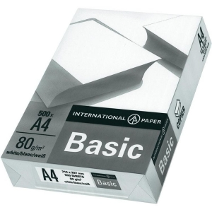 Бумага А4 500л  IP Basic  (International Paper)  80 г/м.кв.