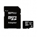 Карта памяти 16GB SILICON POWER micro SDHC Class10+SD adapter