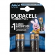 Батарейка R-03 1х4шт DURACELL Turbo 20шт/уп