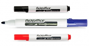 , Маркер для доски Flexoffice Whiteboard FO-WB 01синий 2,5мм 12/1000шт/уп 23075